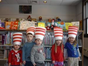 Kids in Dr. Seuss Hats