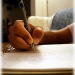 Writer's hand